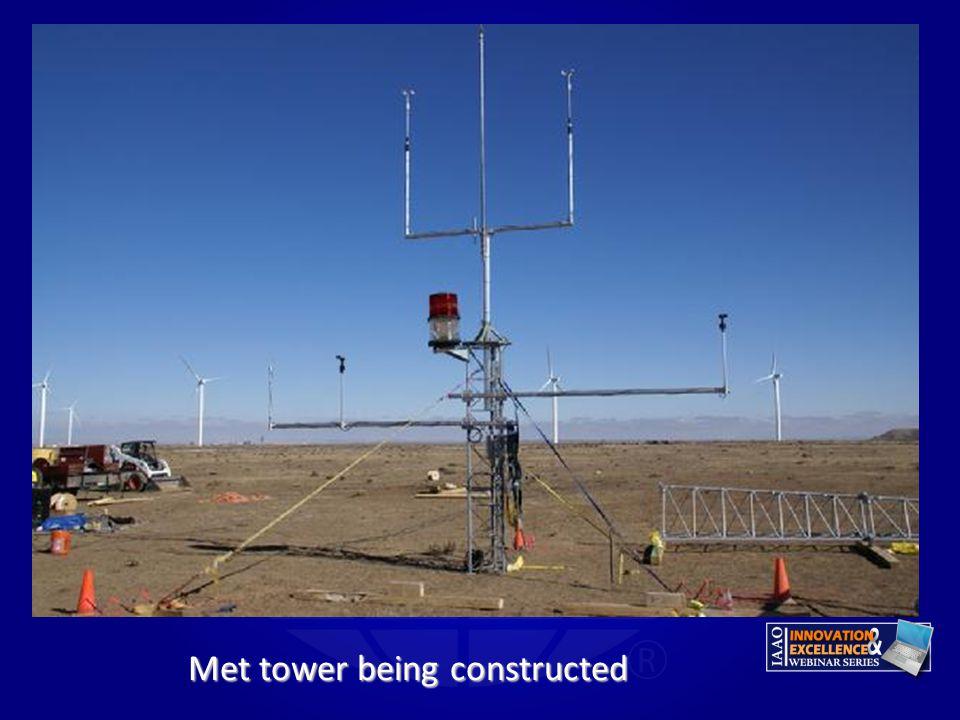 Met tower being constructed