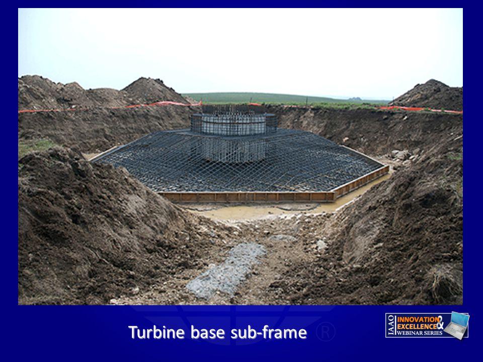 Turbine base sub-frame