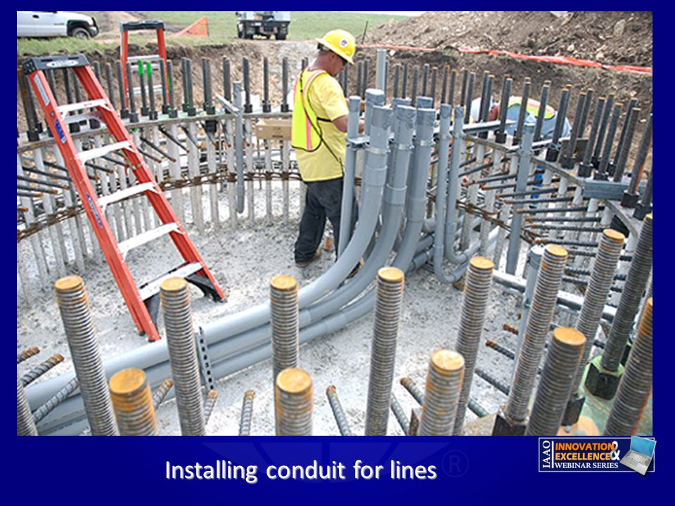 Installing conduit for lines
