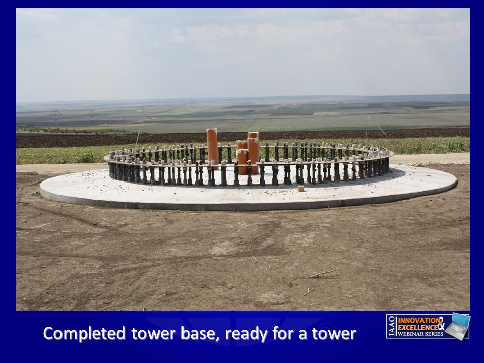 Completed tower base, ready for a tower