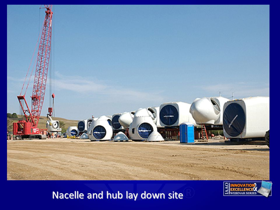 Nacelle and hub lay down site