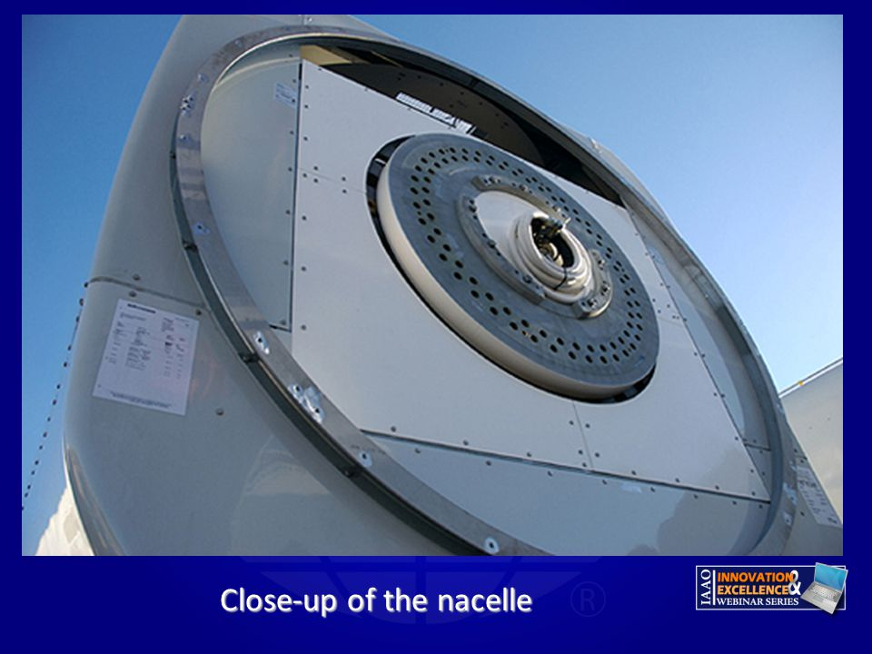 Close-up of the nacelle