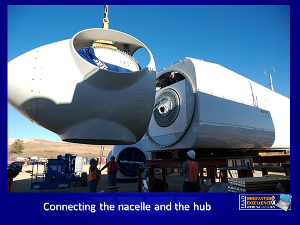 Connecting the nacelle and the hub
