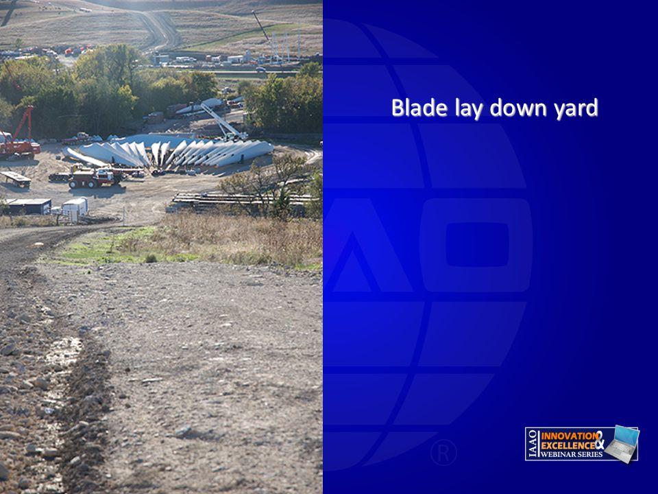 Blade lay down yard Wade