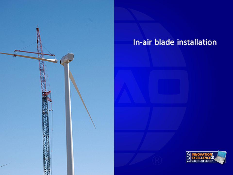 In-air blade installation
