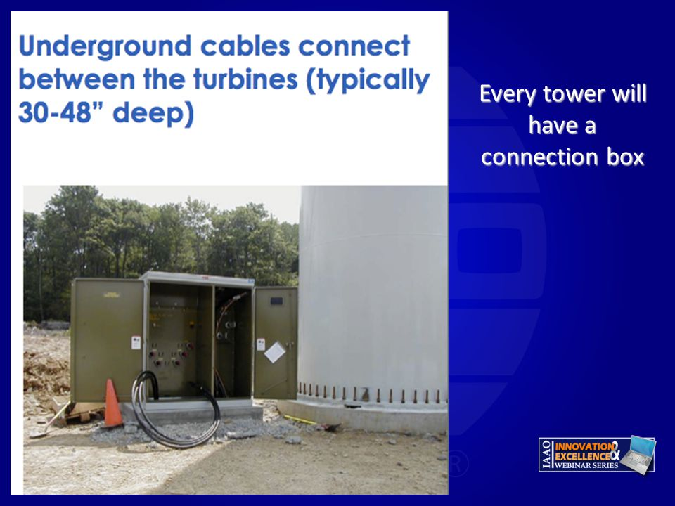 Every tower will have a connection box