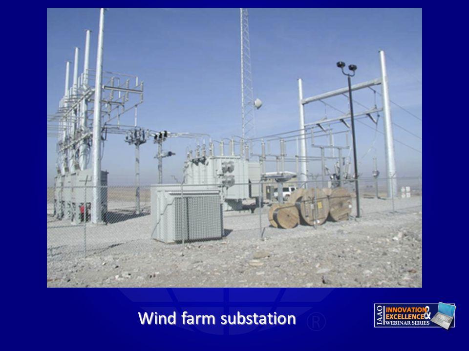 Gary Wind farm substation