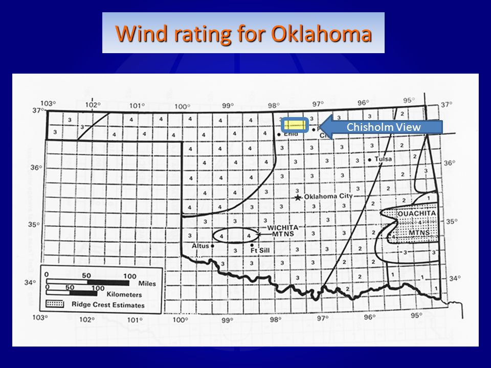 Wind rating for Oklahoma