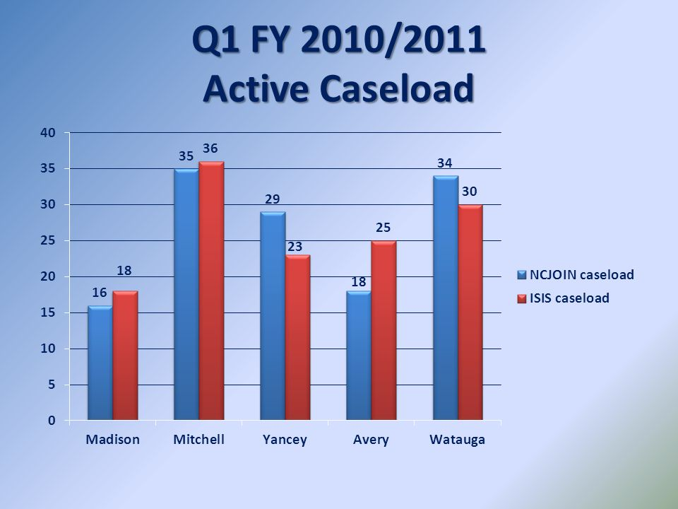 Q1 FY 2010/2011 Active Caseload