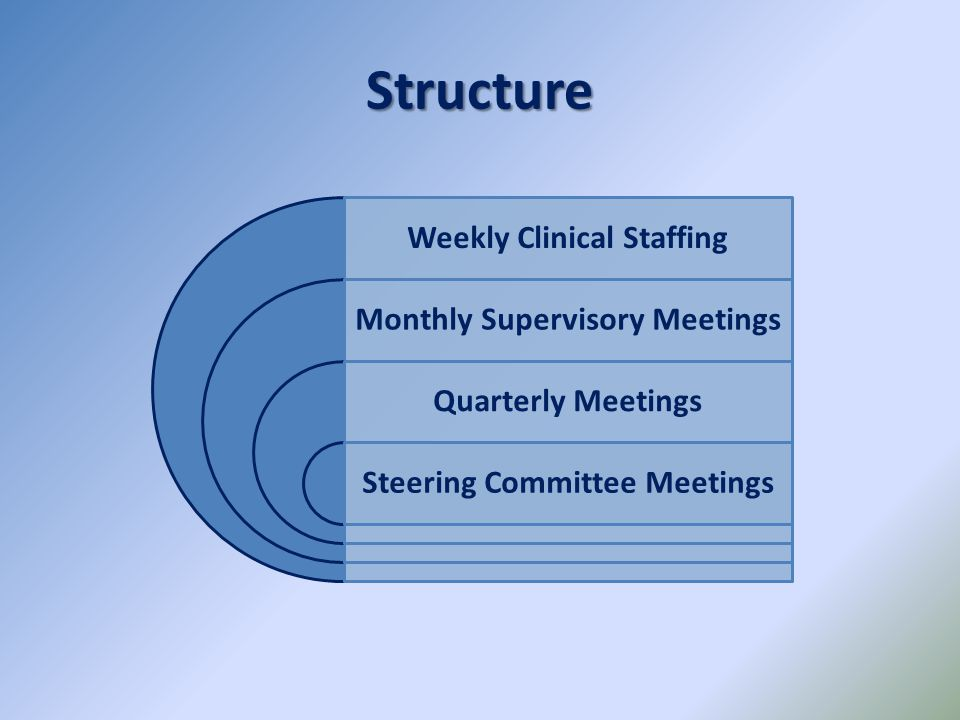 Structure Weekly Clinical Staffing Monthly Supervisory Meetings