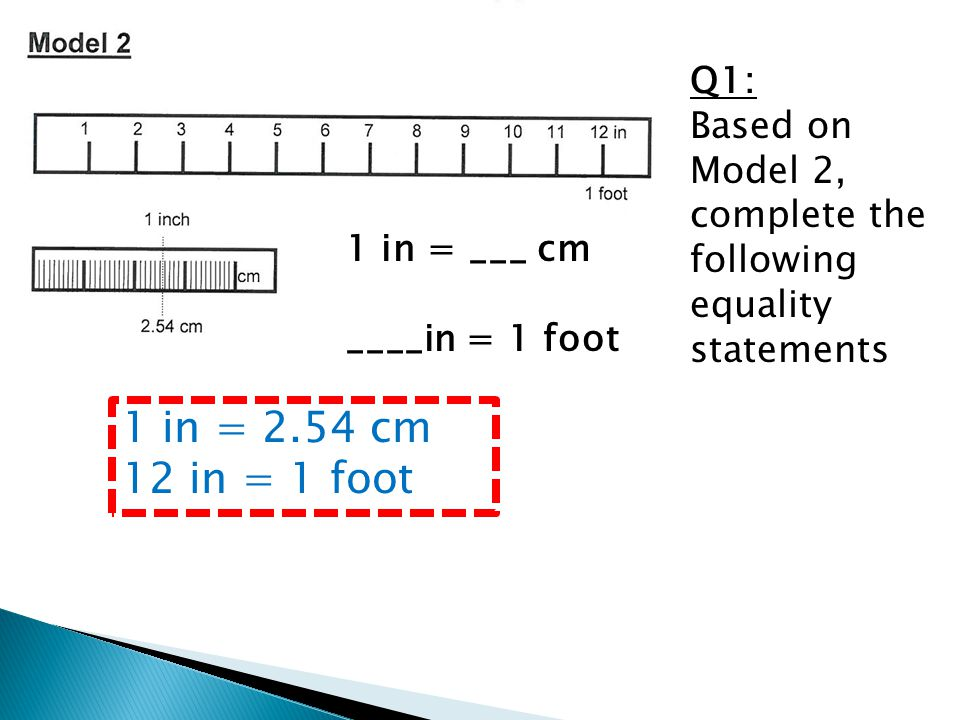 Q1: Based on Model 2, complete the following equality statements
