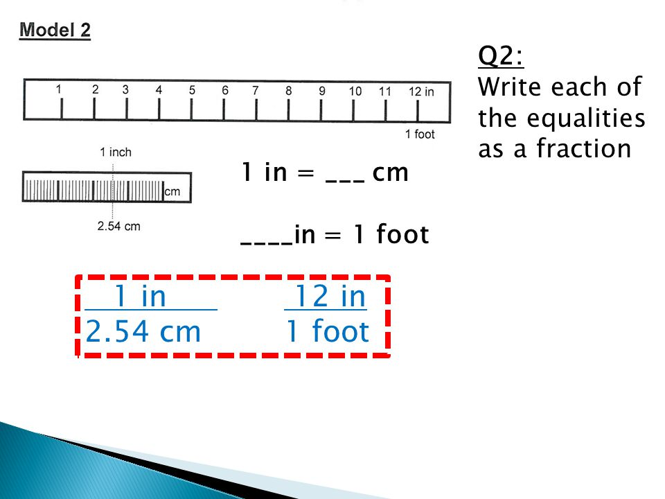 Q2: Write each of the equalities as a fraction