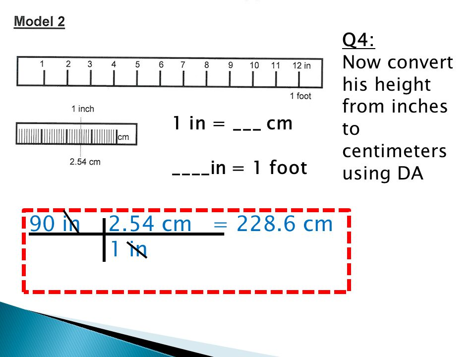 Q4: Now convert his height from inches to centimeters using DA