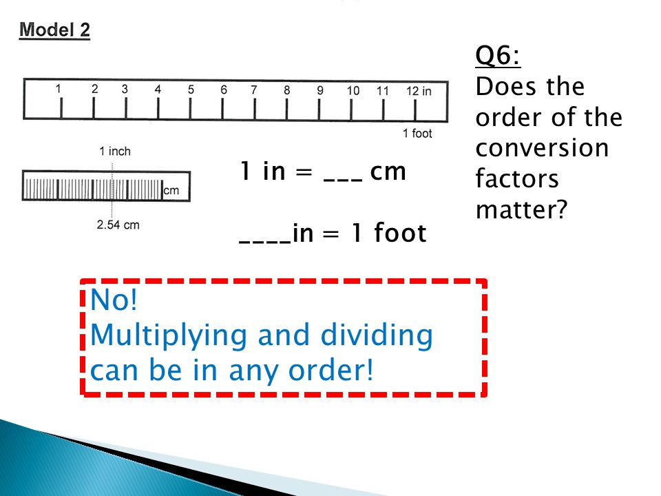 No! Multiplying and dividing can be in any order!