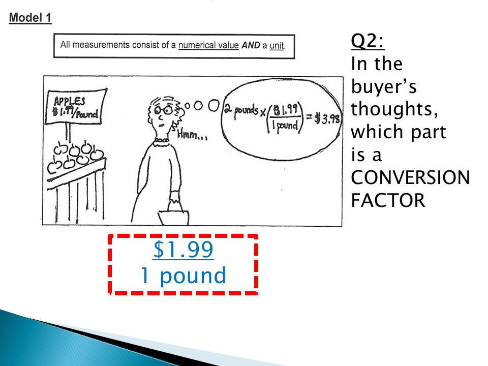 Q2: In the buyer's thoughts, which part is a CONVERSION FACTOR