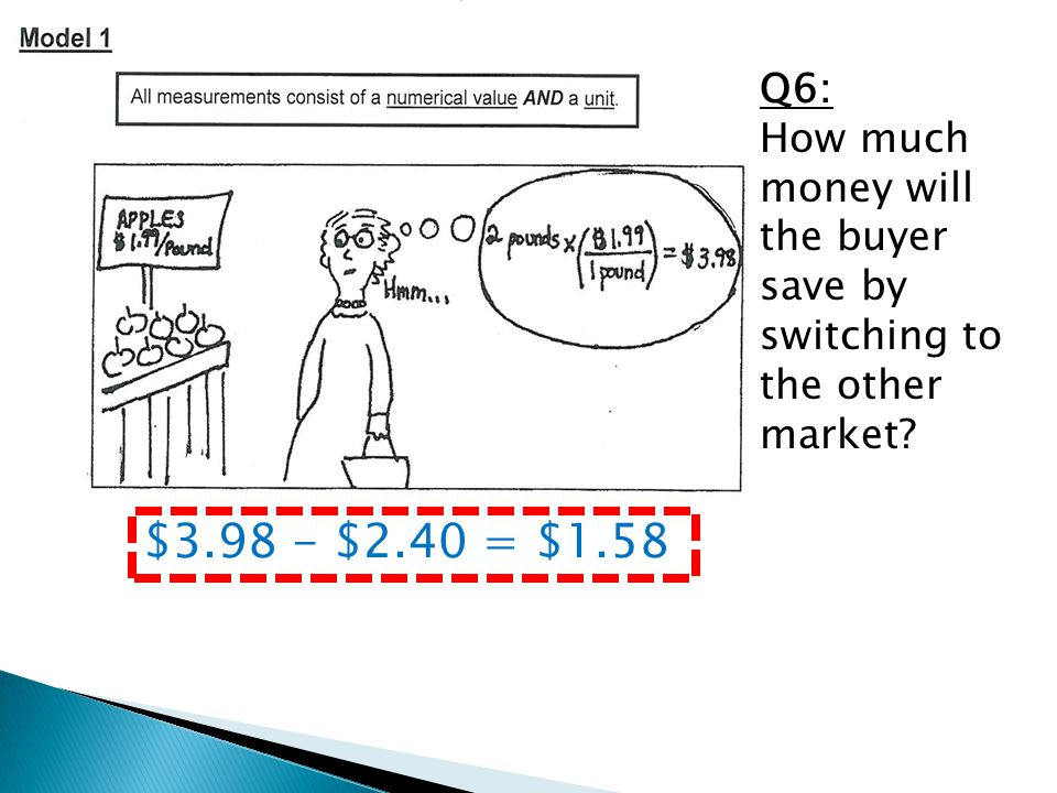 Q6: How much money will the buyer save by switching to the other market