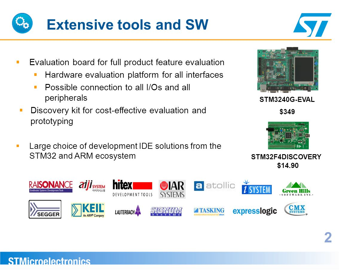 Extensive tools and SW Evaluation board for full product feature evaluation. Hardware evaluation platform for all interfaces.