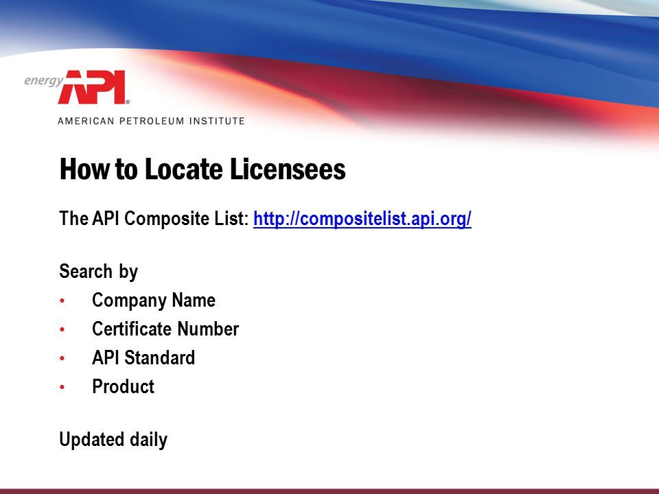 How to Locate Licensees