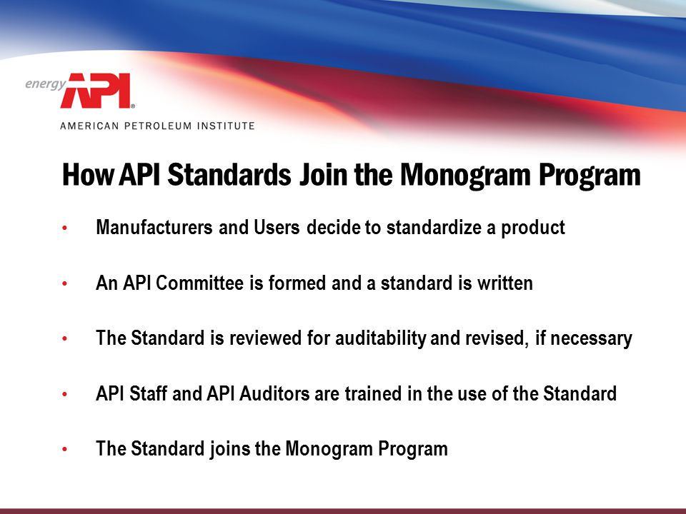 How API Standards Join the Monogram Program