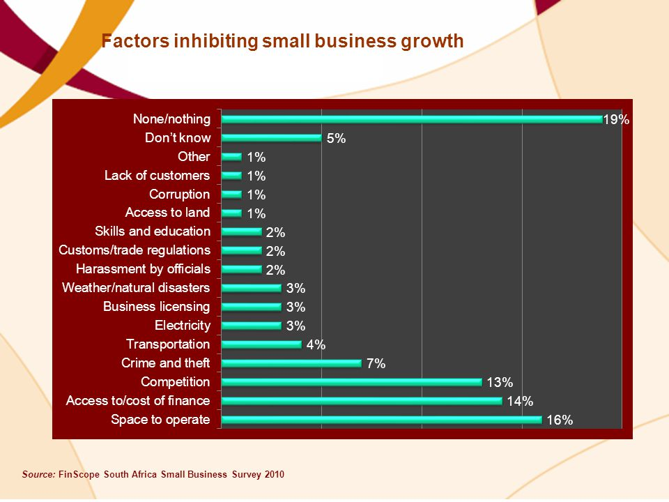 Factors inhibiting small business growth