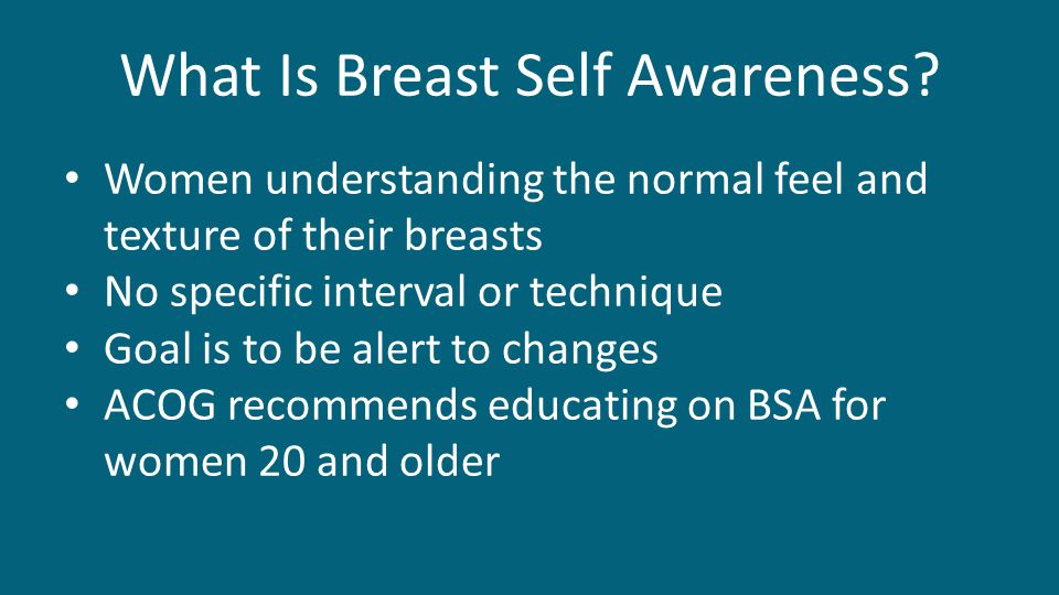 What Is Breast Self Awareness