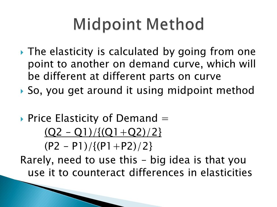 Midpoint Method