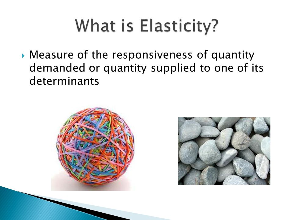 What is Elasticity.