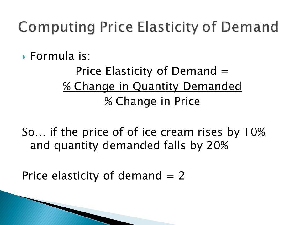 Computing Price Elasticity of Demand