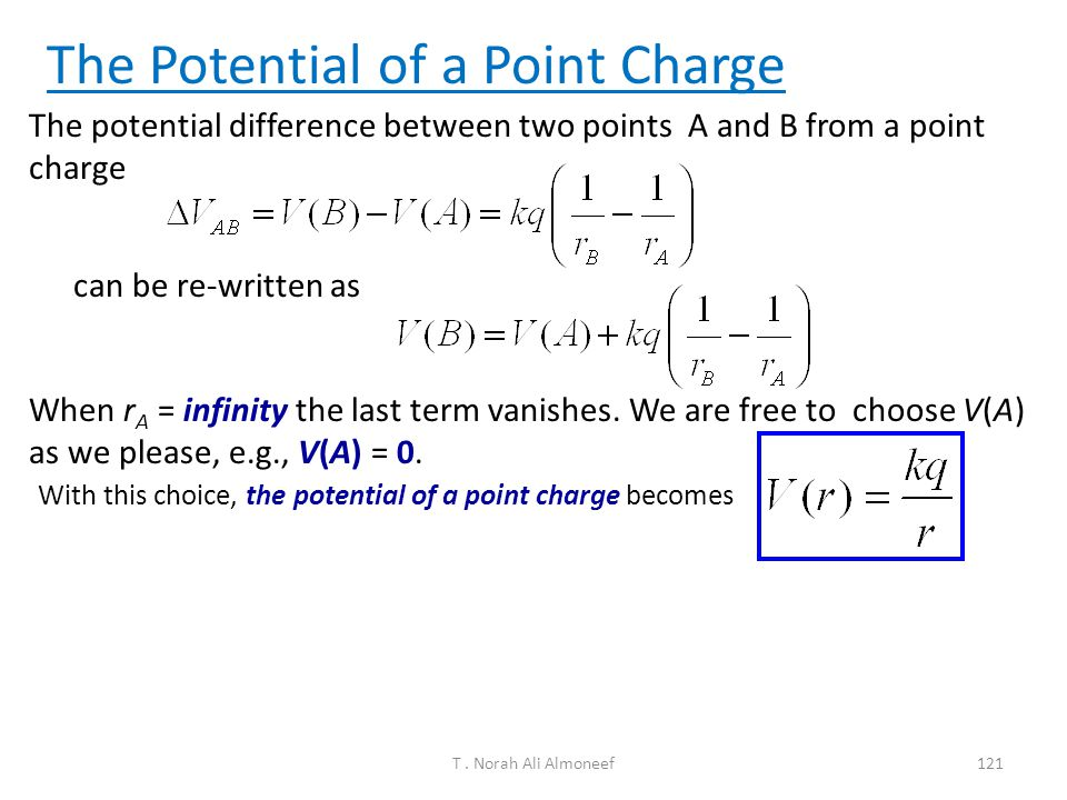 The Potential of a Point Charge