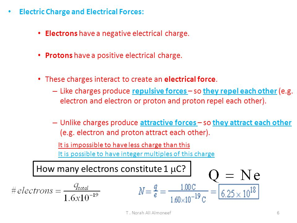 How many electrons constitute 1 mC