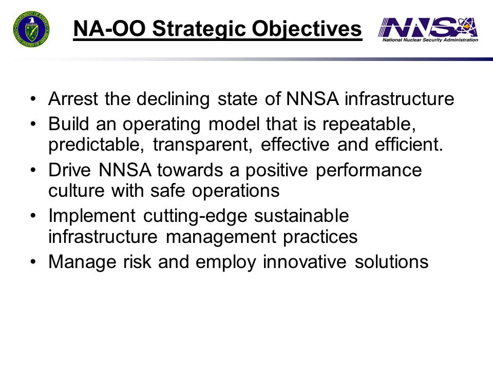 NA-OO Strategic Objectives