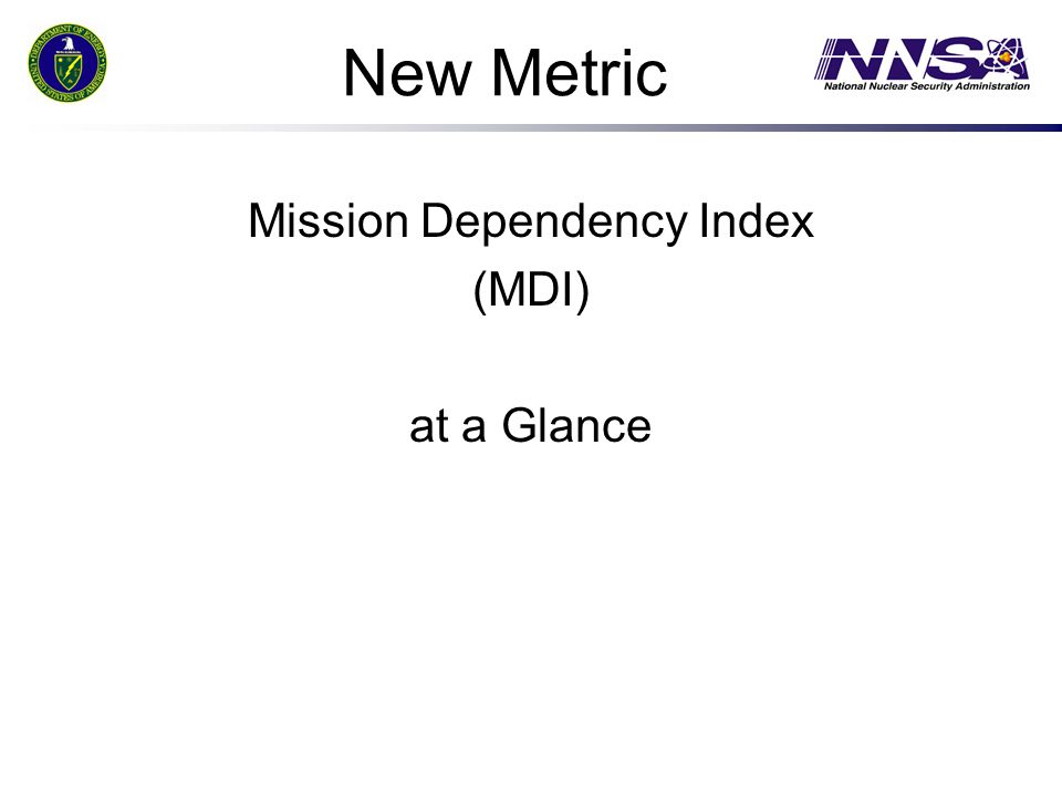 Mission Dependency Index (MDI) at a Glance