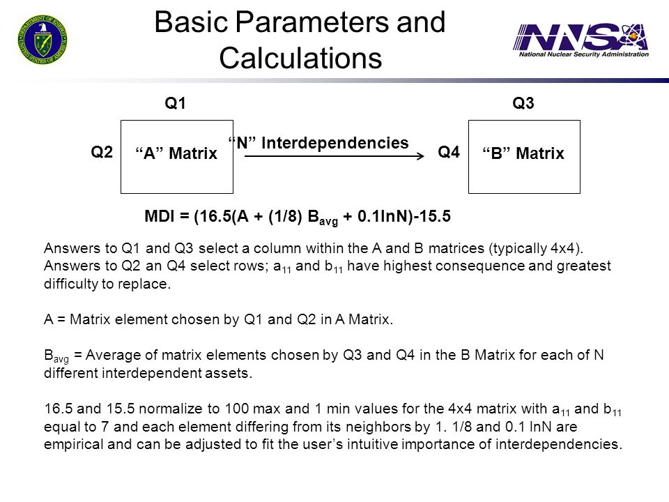 Basic Parameters and Calculations