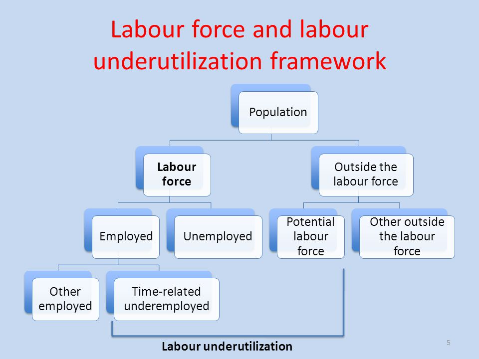 Labour force and labour underutilization framework