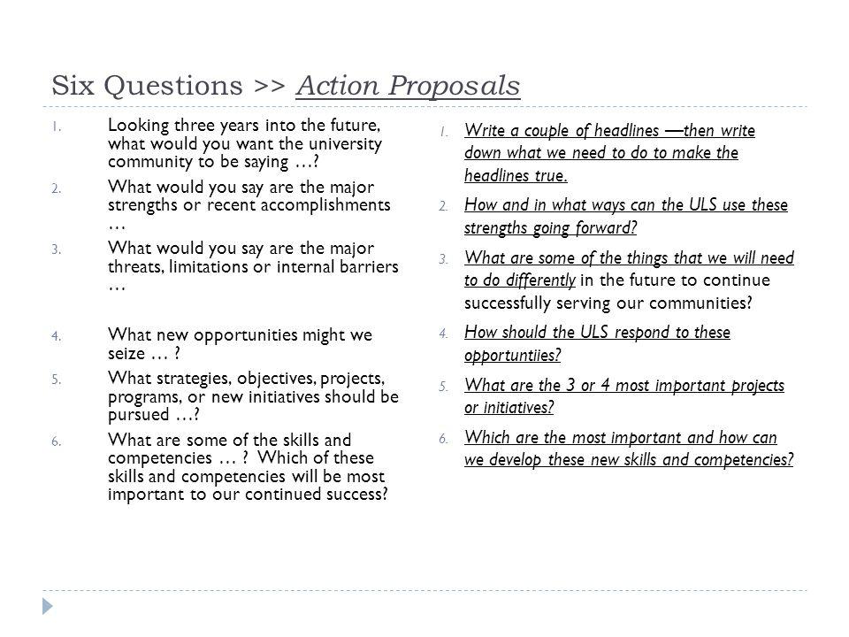 Six Questions >> Action Proposals