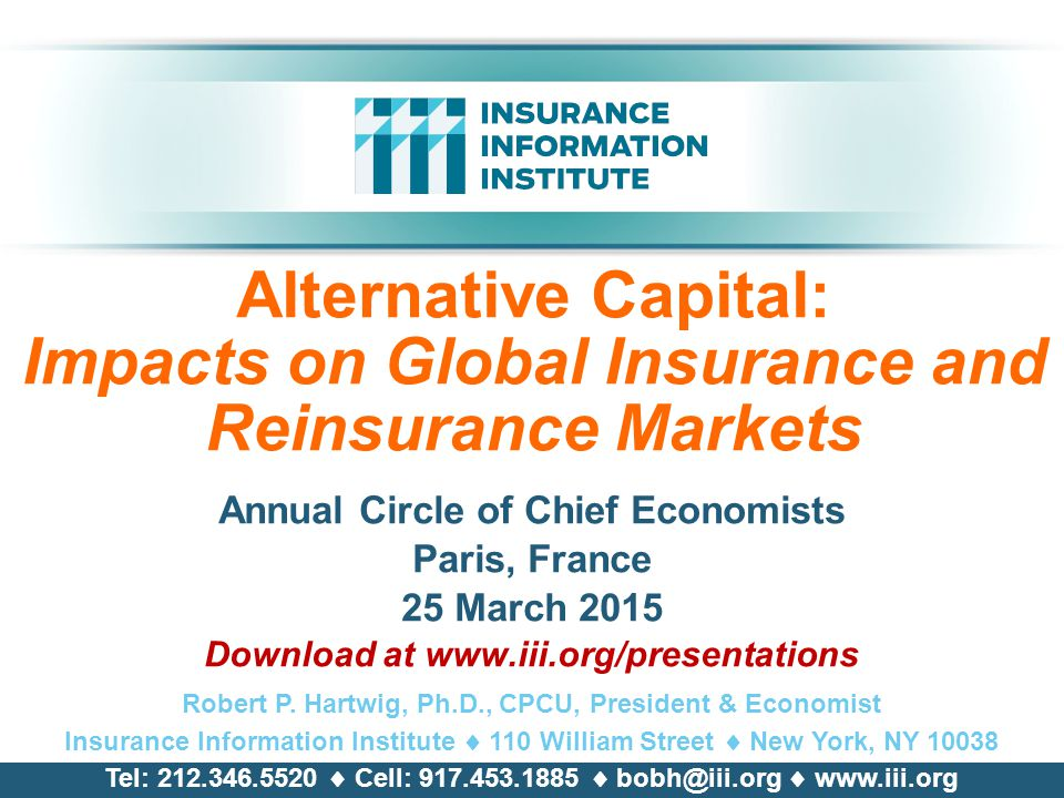 Alternative Capital: Impacts on Global Insurance and Reinsurance Markets