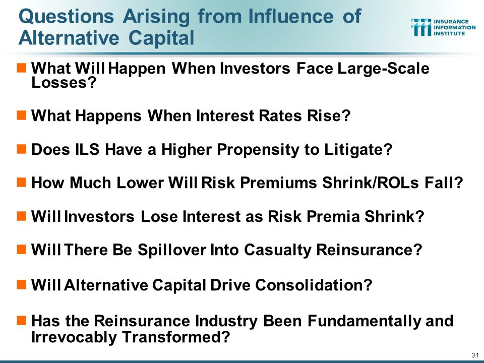 Questions Arising from Influence of Alternative Capital