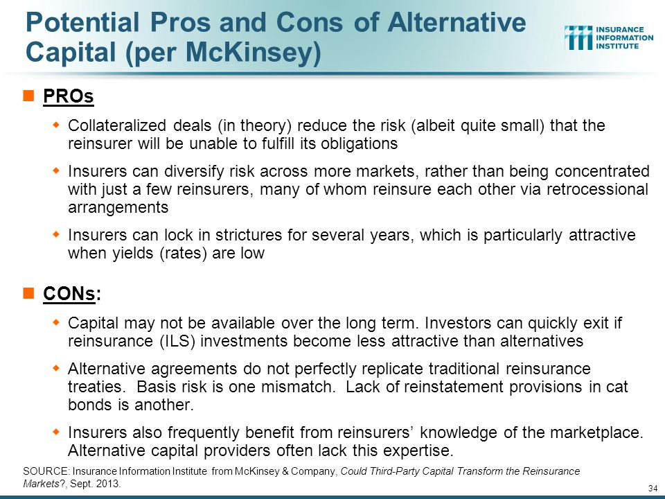 Potential Pros and Cons of Alternative Capital (per McKinsey)