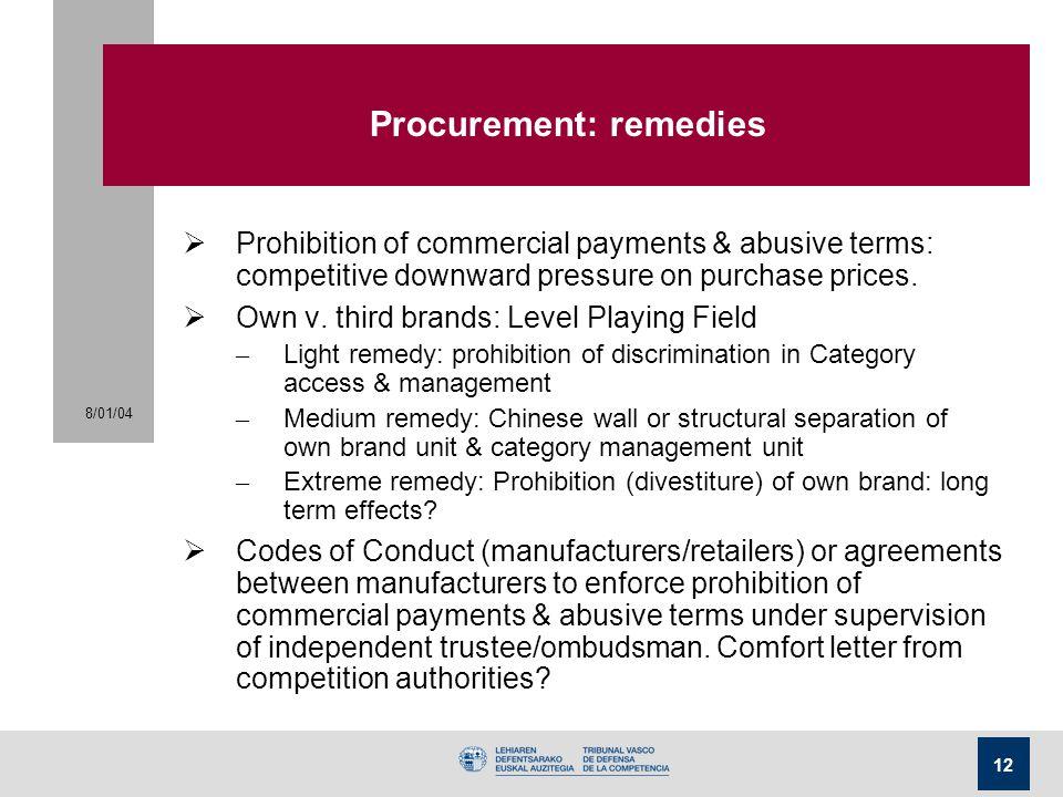 Procurement: remedies