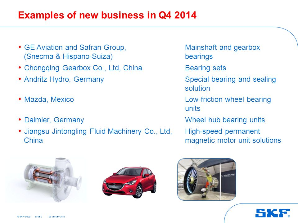 Examples of new business in Q4 2014