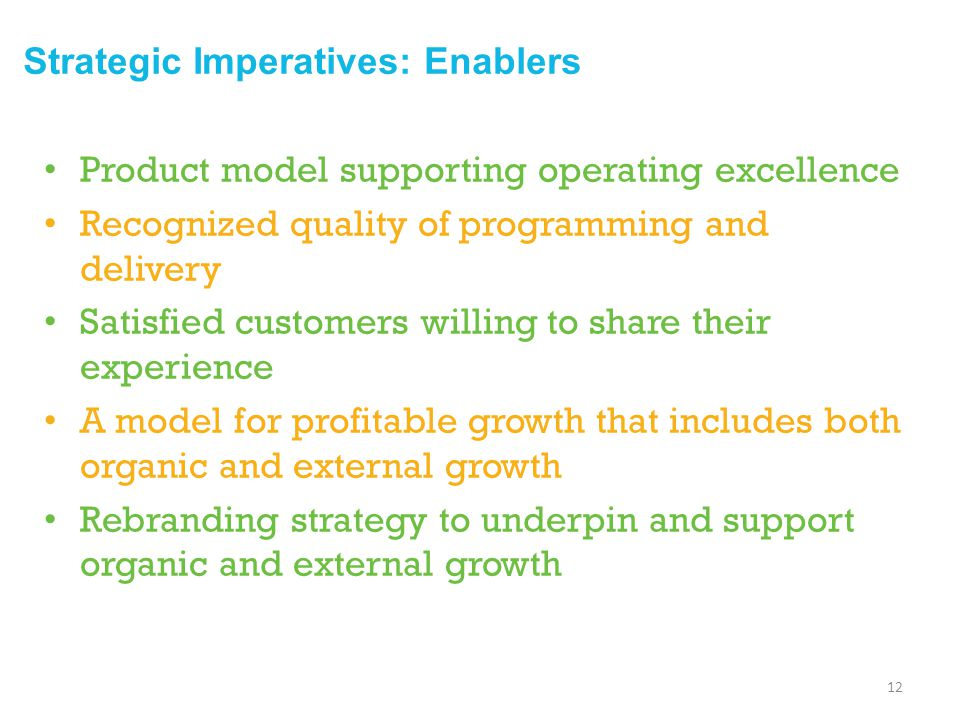 Strategic Imperatives: Enablers