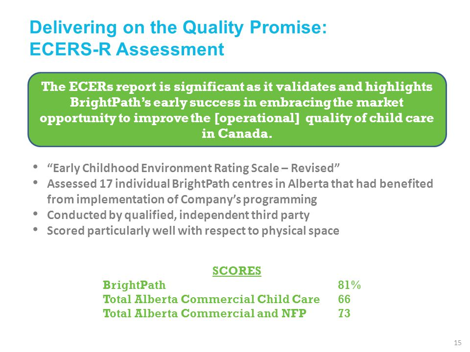 Delivering on the Quality Promise: ECERS-R Assessment