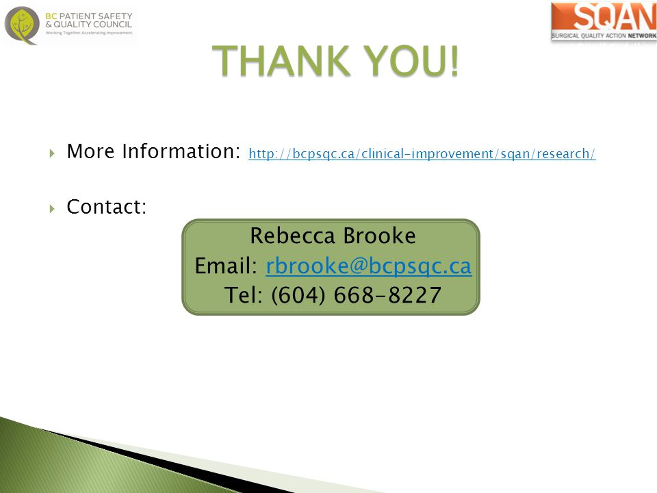 THANK YOU! Rebecca Brooke