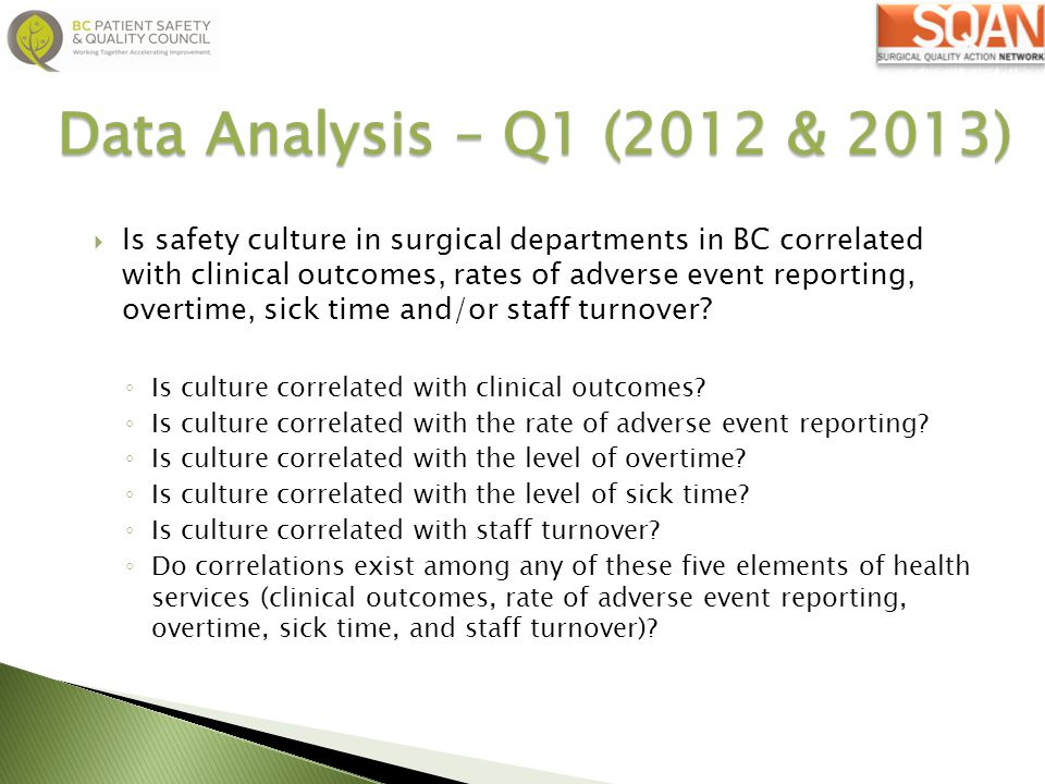 Data Analysis – Q1 (2012 & 2013)