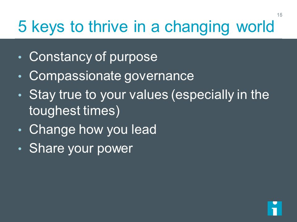 5 keys to thrive in a changing world