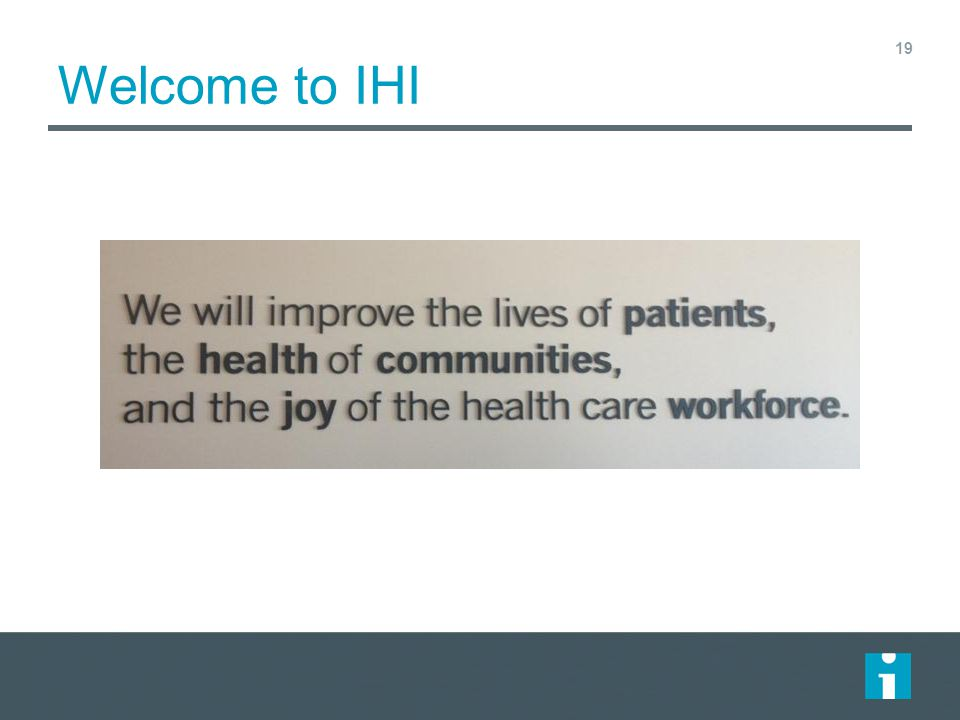 Welcome to IHI
