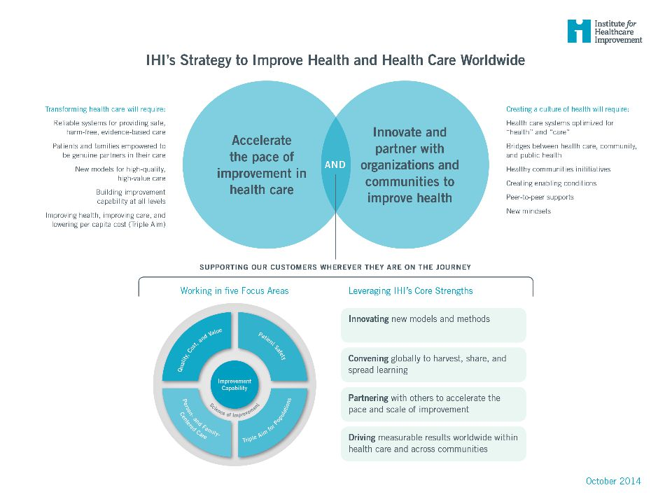 Gail, insert updated IHI Strategy on a page