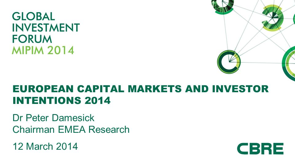 EUROPEAN CAPITAL MARKETS AND INVESTOR INTENTIONS 2014