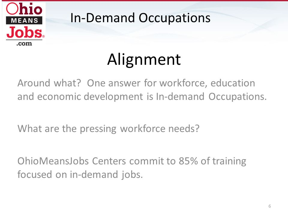 Alignment In-Demand Occupations