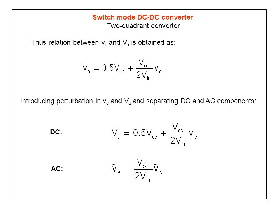 Switch mode DC-DC converter